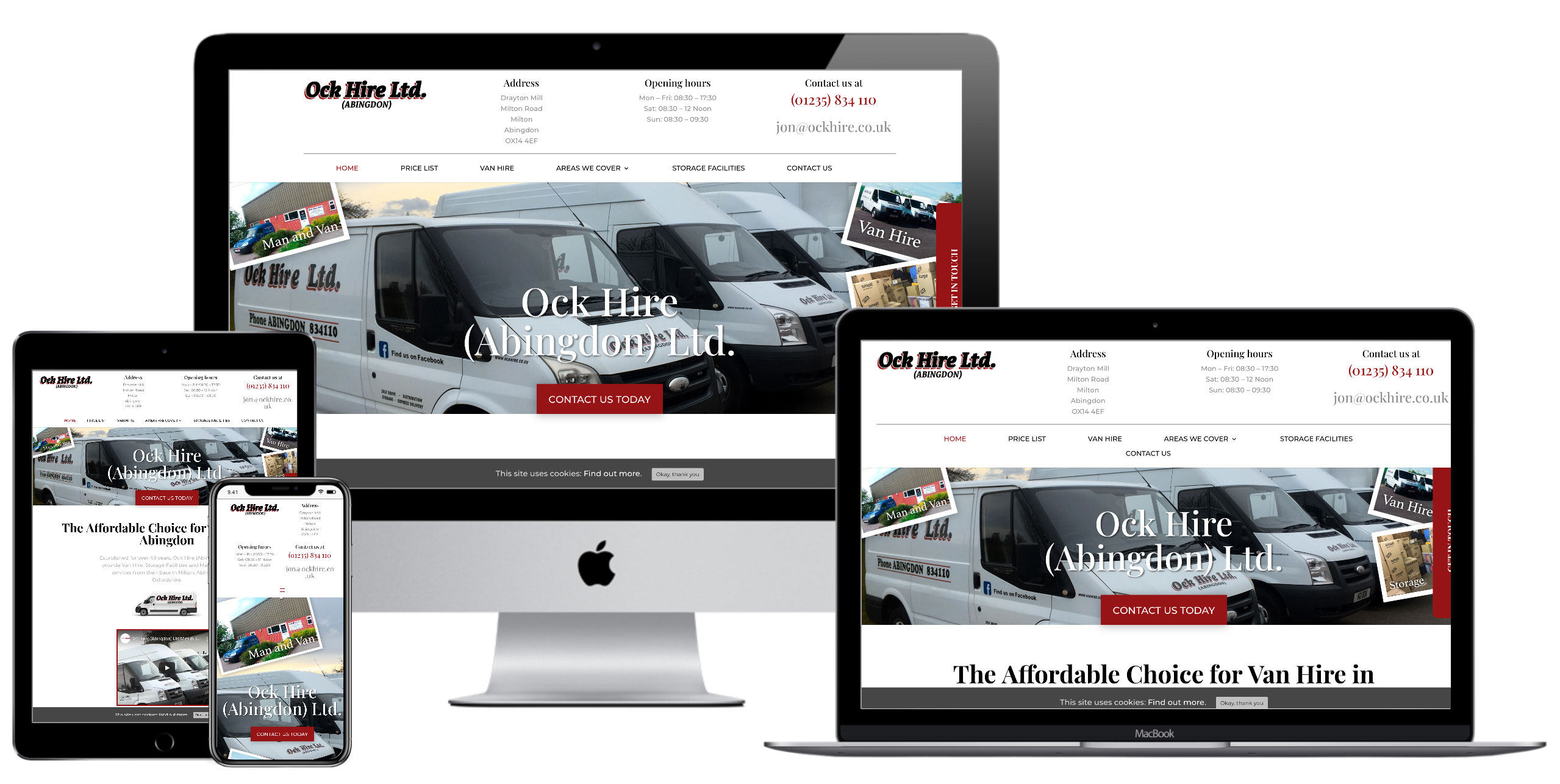 Ock Hire Website by Web SEO Assist