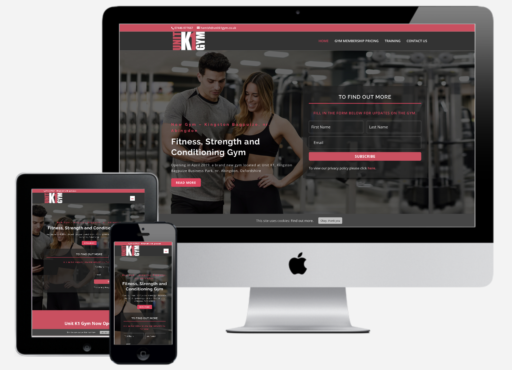 Unit K1 Gym WordPress Website