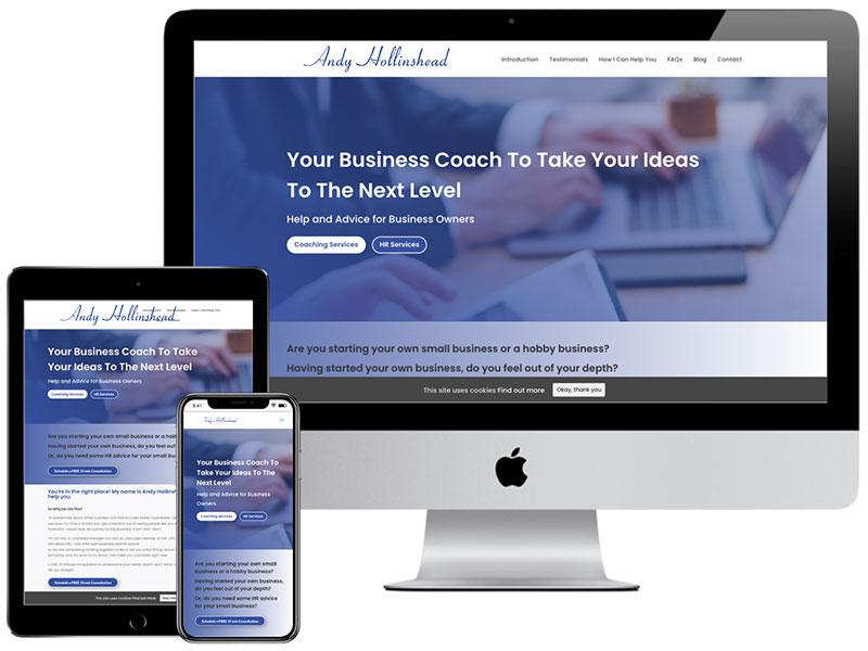 Web Design Portfolio - Andy Hollinshead Business Coach
