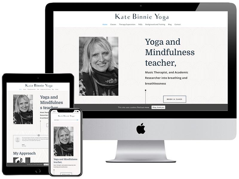 Web Design Portfolio - Kate Binnie Yoga