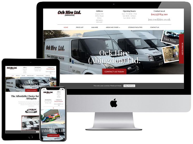 Web Design Portfolio - Ock Hire Abingdon Van Hire and Storage
