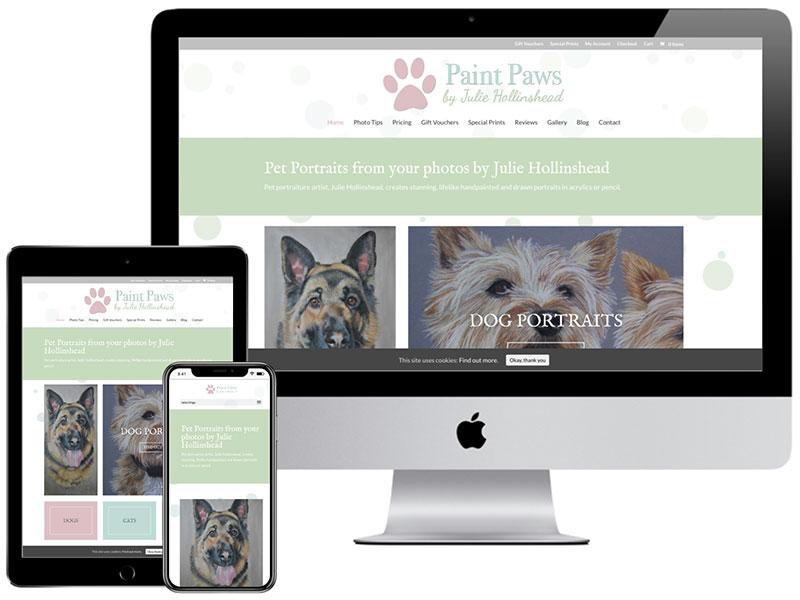 Web Design Portfolio - Paint Paws