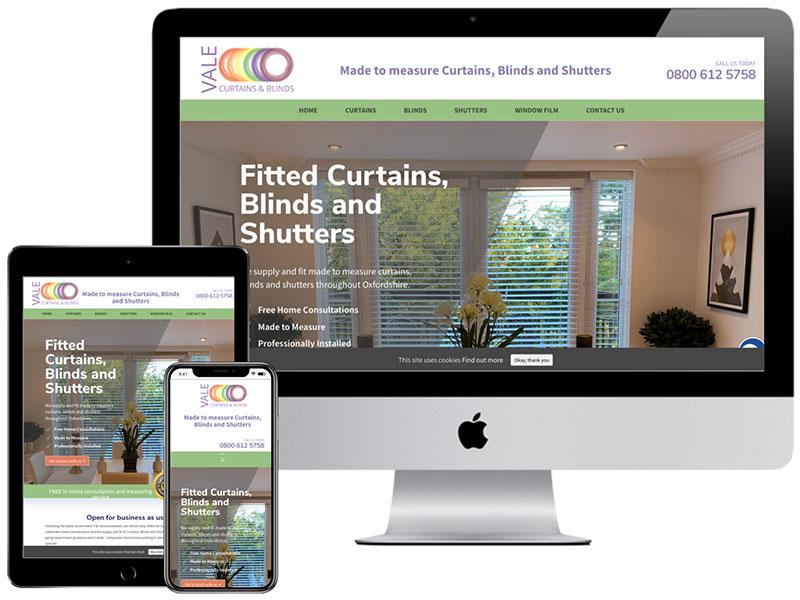 Web Design Portfolio - Vale Curtains and Blinds