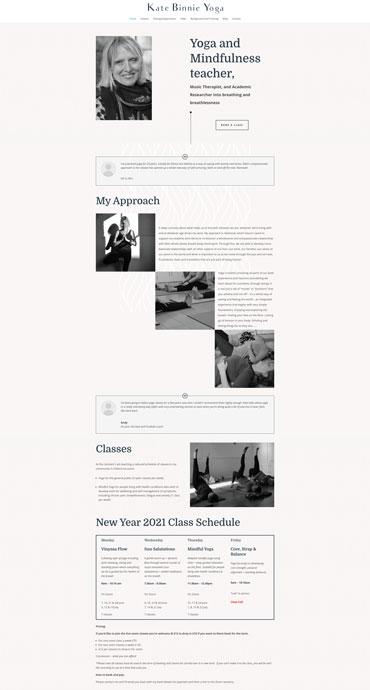 Kate Binnie Yoga - Website by Web SEO Assist