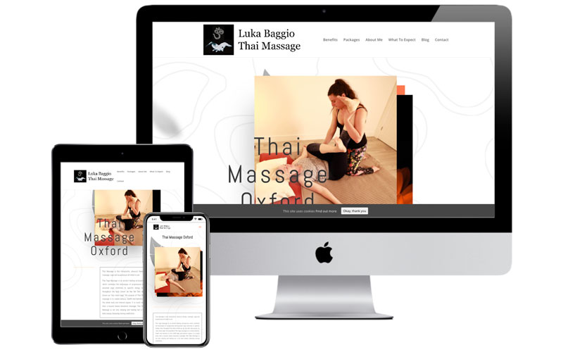 Thai Massage Oxford - leasing a website by Web SEO Assist