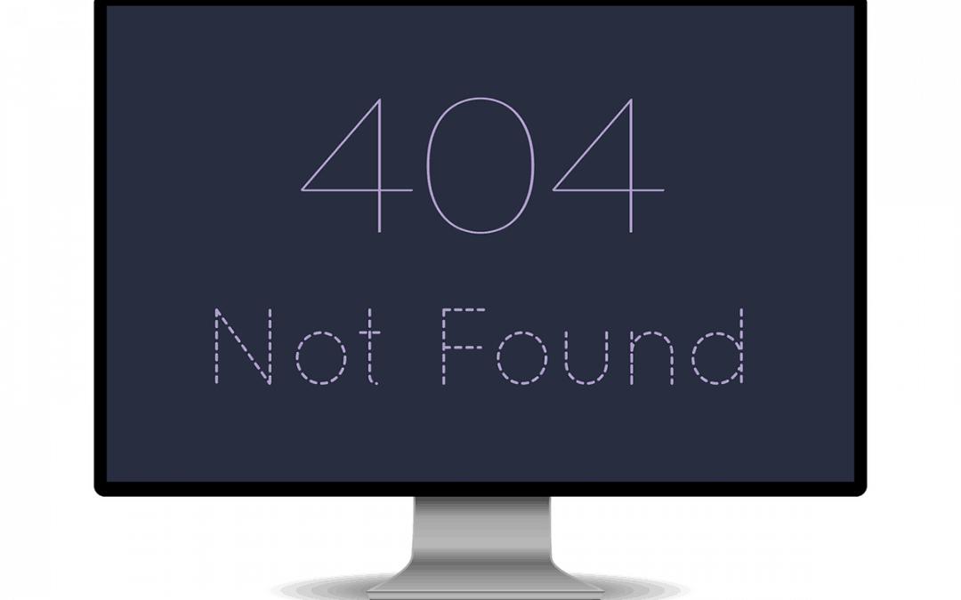 404 error - website not working