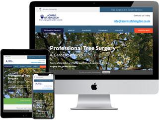 One-Page Website - Acorns of Abingdon