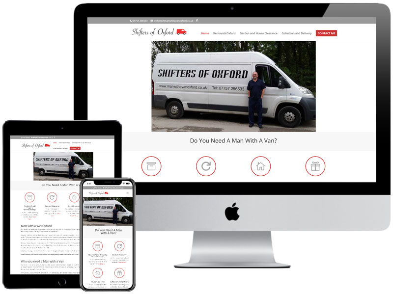 Web Design Portfolio - Shifters of Oxford Website